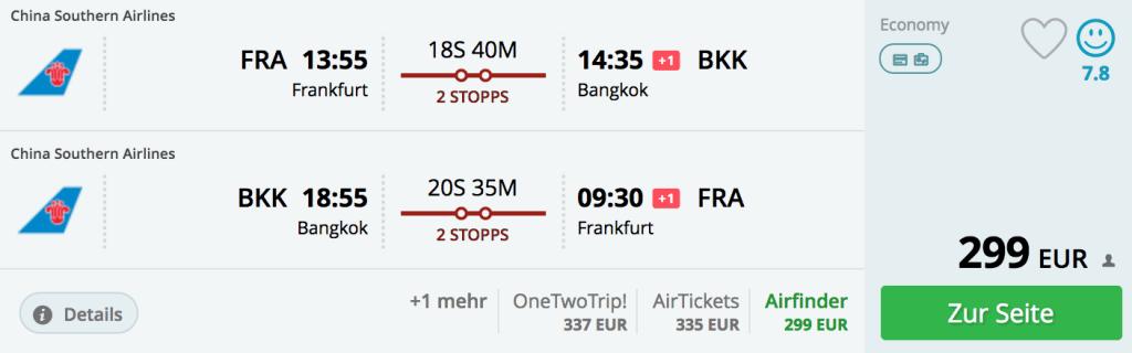 Für 299 Euro nach Thailand