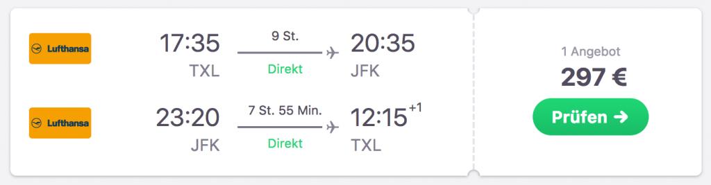 Flug nach New York. Jetzt buchen!