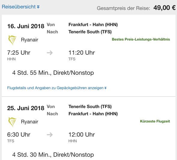 Teneriffa für 49 Euro - jetzt buchen!