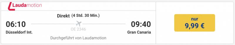 Für 9 Euro nach Gran Canaria