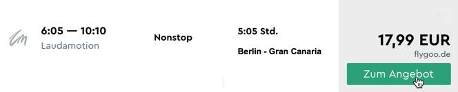 Billigflug von Berlin nach Gran Canaria