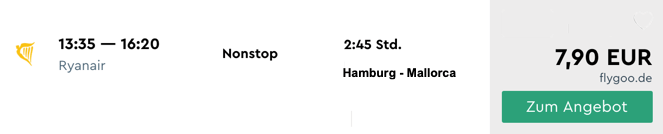 Hamburg - Mallorca billig