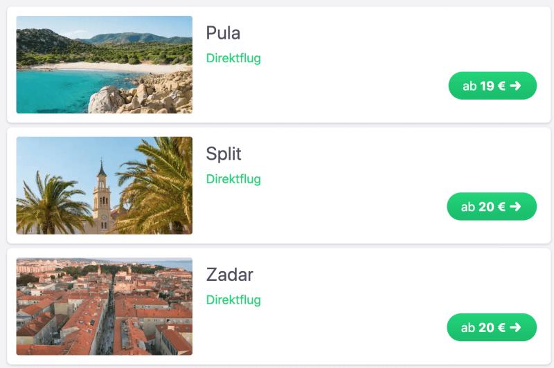 Für 19 Euro von Stuttgart nach Kroatien