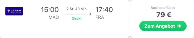 Für 79 Euro Business Class fliegen