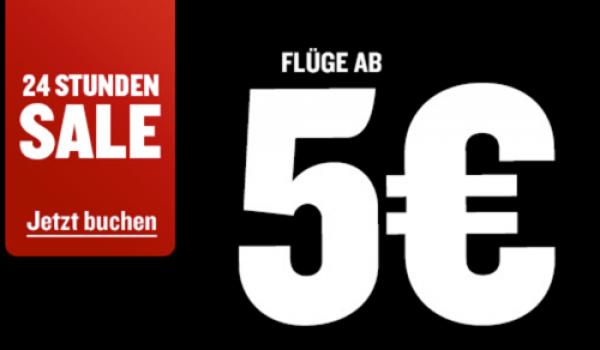 5 Euro Sale bei Ryanair
