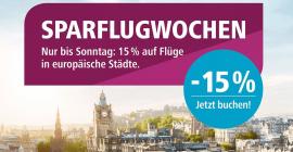 15 % Rabatt auf Cityziele bei Eurowings – Flüge ab 14,44 €!