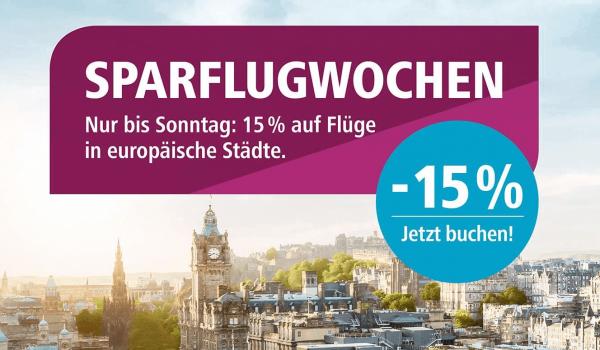 15 % Rabatt bei Eurowings