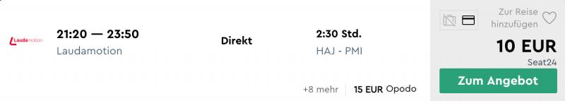 Hannover - Mallorca günstig buchen!